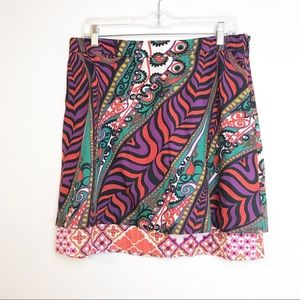Anthropologie Odille Paisley Skirt Size 10